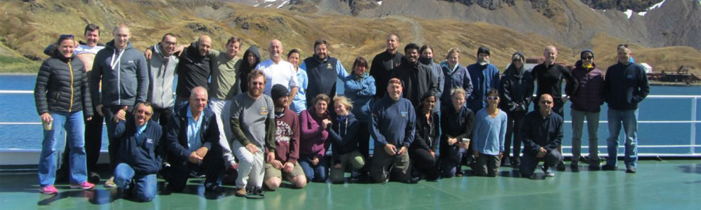 Atlantic Meridional Transect 27 scientists and crew of RRS Discovery.