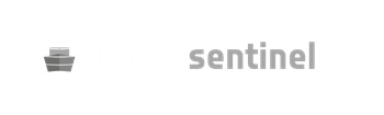 AMT4Sentinel logo in white and grey